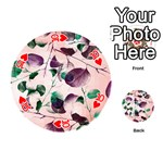 Spiral Eucalyptus Leaves Playing Cards 54 (Round)  Front - Heart10