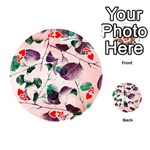 Spiral Eucalyptus Leaves Playing Cards 54 (Round)  Front - HeartA