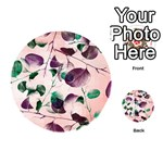 Spiral Eucalyptus Leaves Playing Cards 54 (Round)  Back