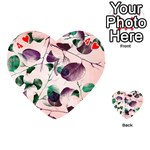 Spiral Eucalyptus Leaves Playing Cards 54 (Heart)  Front - Heart4