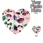 Spiral Eucalyptus Leaves Playing Cards 54 (Heart)  Front - Heart6