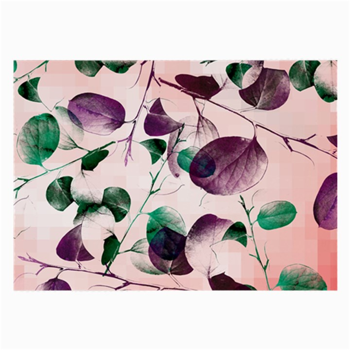 Spiral Eucalyptus Leaves Large Glasses Cloth