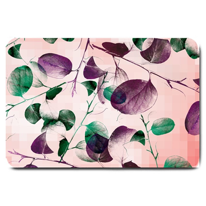 Spiral Eucalyptus Leaves Large Doormat