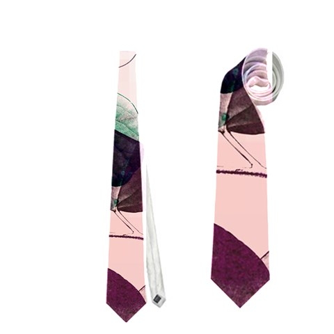 Spiral Eucalyptus Leaves Neckties (Two Side)