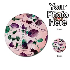 Spiral Eucalyptus Leaves Multi Purpose Cards (round)