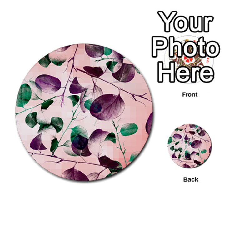Spiral Eucalyptus Leaves Multi-purpose Cards (Round)