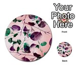 Spiral Eucalyptus Leaves Multi-purpose Cards (Round)  Back 21