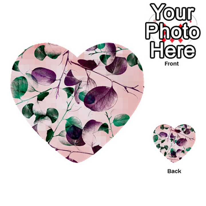 Spiral Eucalyptus Leaves Multi-purpose Cards (Heart)