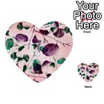 Spiral Eucalyptus Leaves Multi-purpose Cards (Heart)  Back 51