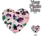 Spiral Eucalyptus Leaves Multi-purpose Cards (Heart)  Back 26