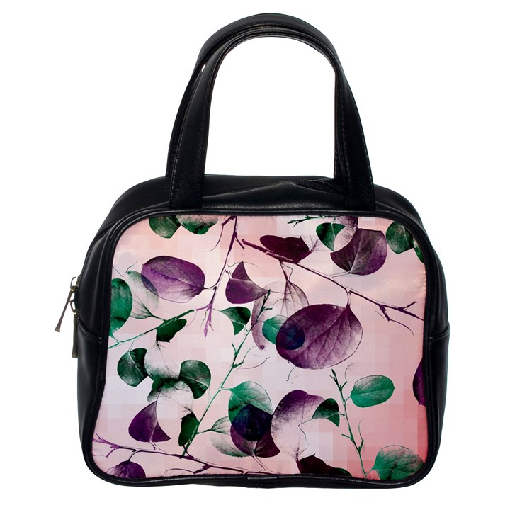 Spiral Eucalyptus Leaves Classic Handbags (One Side)