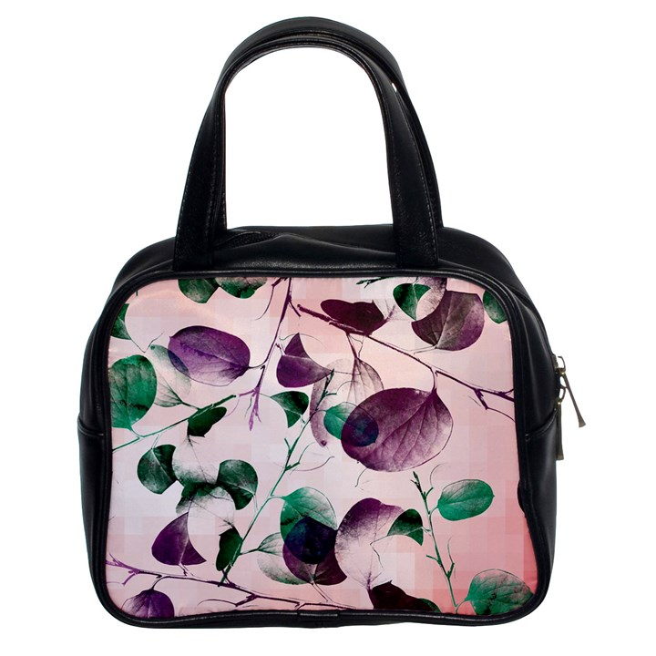 Spiral Eucalyptus Leaves Classic Handbags (2 Sides)