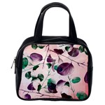 Spiral Eucalyptus Leaves Classic Handbags (2 Sides) Back