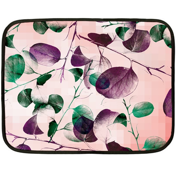 Spiral Eucalyptus Leaves Fleece Blanket (Mini)