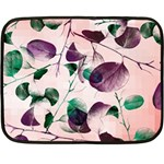 Spiral Eucalyptus Leaves Double Sided Fleece Blanket (Mini)  35 x27 Blanket Back