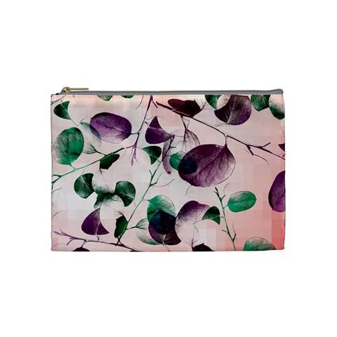 Spiral Eucalyptus Leaves Cosmetic Bag (Medium)
