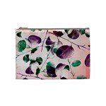 Spiral Eucalyptus Leaves Cosmetic Bag (Medium)  Front