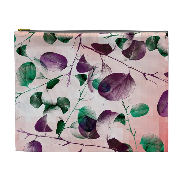 Spiral Eucalyptus Leaves Cosmetic Bag (XL)