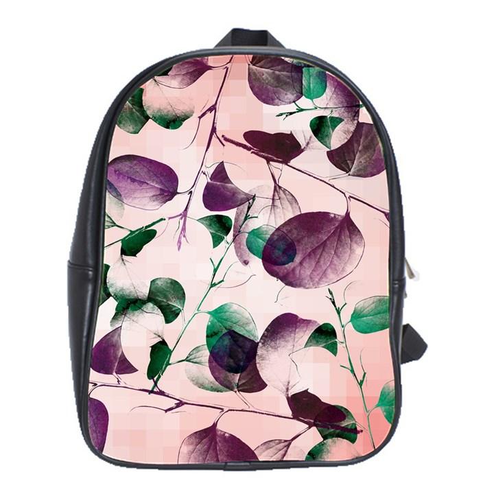 Spiral Eucalyptus Leaves School Bags(Large)