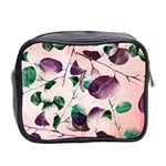 Spiral Eucalyptus Leaves Mini Toiletries Bag 2-Side Back