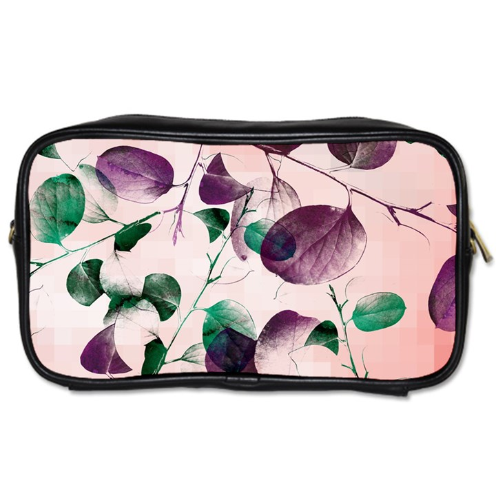 Spiral Eucalyptus Leaves Toiletries Bags 2-Side