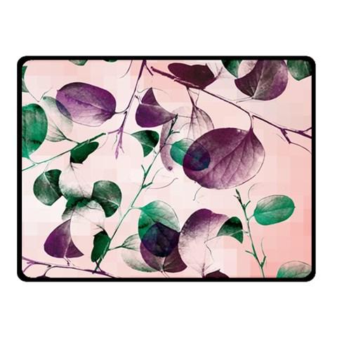 Spiral Eucalyptus Leaves Fleece Blanket (Small)