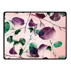 Spiral Eucalyptus Leaves Fleece Blanket (Small)