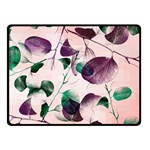 Spiral Eucalyptus Leaves Fleece Blanket (Small) 50 x40 Blanket Front