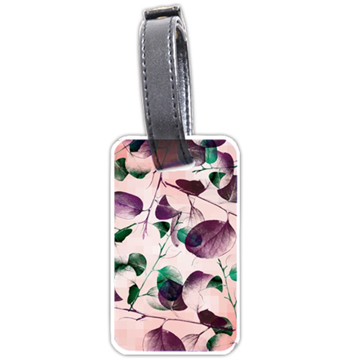Spiral Eucalyptus Leaves Luggage Tags (Two Sides)
