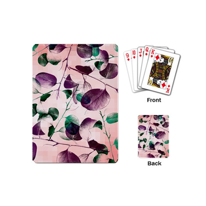 Spiral Eucalyptus Leaves Playing Cards (Mini)