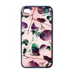 Spiral Eucalyptus Leaves Apple iPhone 4 Case (Black) Front