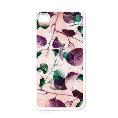 Spiral Eucalyptus Leaves Apple Iphone 4 Case (white)