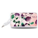 Spiral Eucalyptus Leaves Portable Speaker (White)  Front