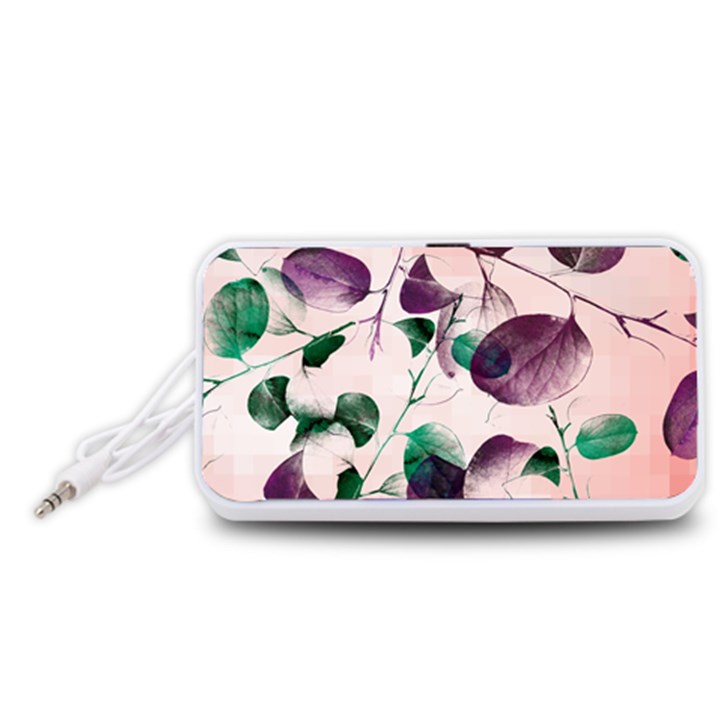 Spiral Eucalyptus Leaves Portable Speaker (White)