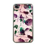 Spiral Eucalyptus Leaves Apple iPhone 4 Case (Clear) Front