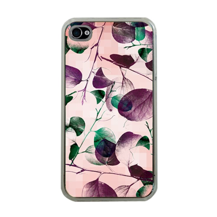 Spiral Eucalyptus Leaves Apple iPhone 4 Case (Clear)