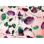 Spiral Eucalyptus Leaves Circle Bottom 3D Greeting Card (7x5) Front