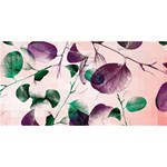 Spiral Eucalyptus Leaves ENGAGED 3D Greeting Card (8x4) Back