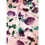 Spiral Eucalyptus Leaves THANK YOU 3D Greeting Card (7x5) Inside