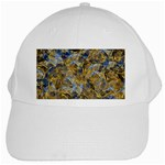 Antique Anciently Gold Blue Vintage Design White Cap Front