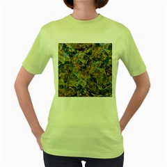 Antique Anciently Gold Blue Vintage Design Women s Green T Shirt