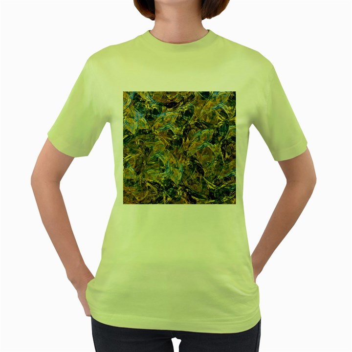 Antique Anciently Gold Blue Vintage Design Women s Green T-Shirt