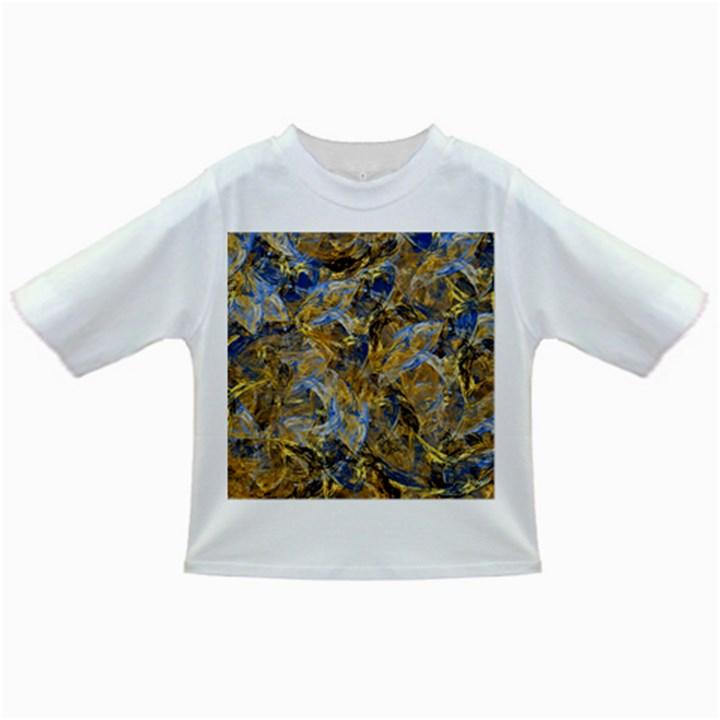 Antique Anciently Gold Blue Vintage Design Infant/Toddler T-Shirts