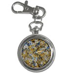 Antique Anciently Gold Blue Vintage Design Key Chain Watches Front