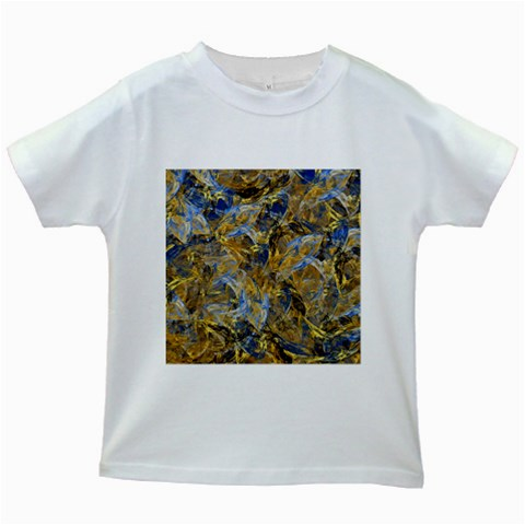 Antique Anciently Gold Blue Vintage Design Kids White T-Shirts