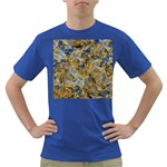 Antique Anciently Gold Blue Vintage Design Dark T-Shirt Front