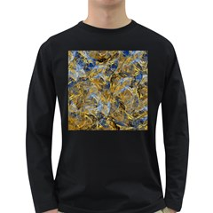 Antique Anciently Gold Blue Vintage Design Long Sleeve Dark T Shirts