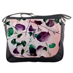 Spiral Eucalyptus Leaves Messenger Bags Front