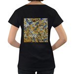 Antique Anciently Gold Blue Vintage Design Women s Loose-Fit T-Shirt (Black) Back
