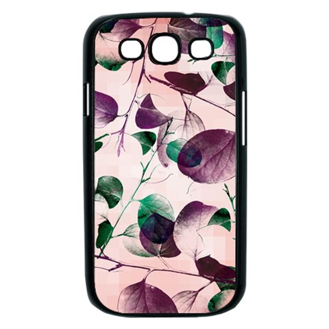 Spiral Eucalyptus Leaves Samsung Galaxy S III Case (Black)